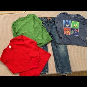 Like-New Bundle of 3 Shirts & Pair of Jeans